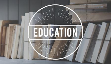 Boeken Kennis Studie Onderwijs Woord Stempel Banner Afbeelding