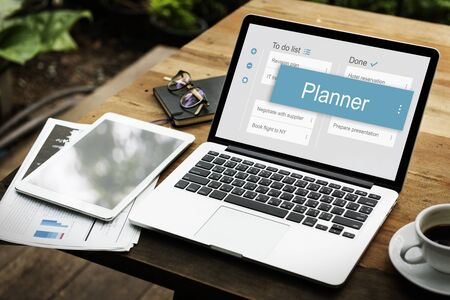 appointment book: Digital Business To do List App Interface