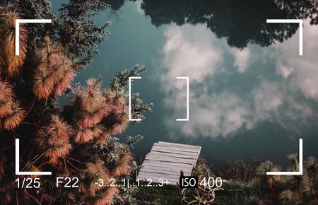 Camera Zoeker Capture Snapshot Vector Illustratie Grafisch