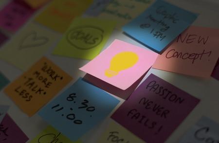 Illustration of light bulb creativity ideas