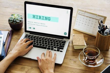 Job Carriere Hiring Recruitment Qualification Graphic Stockfoto