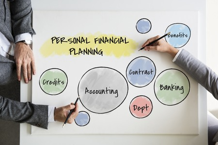 Business people with personal financial planning concept