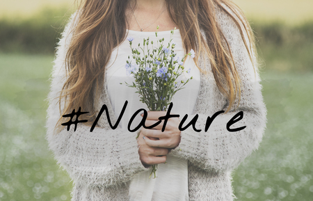 Nature Flower Bloom Blossom Phrase Words Banco de Imagens