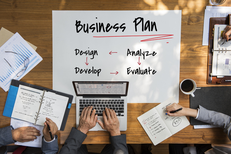 asian business: Work Plan Business Process Graphic Illustration