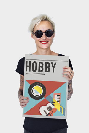 Digital music is a mobility entertainment. Stock Photo