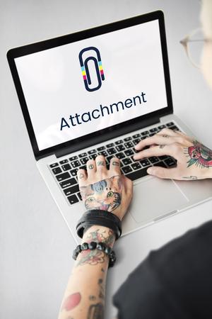 Paper Clip Mail File Attachment Graphic Stok Fotoğraf