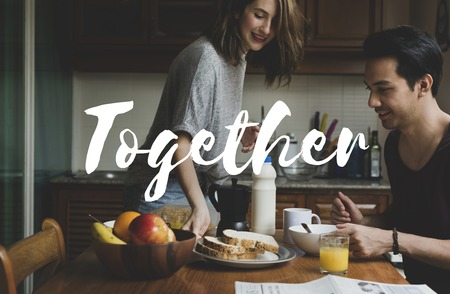 Couple Love Spend Time Together Smitten Word Graphic