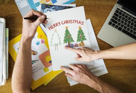 メリー クリスマスの休日休暇のイラスト