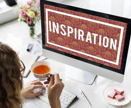 chic woman: Inspiration Imagination Motivation Courage Brave