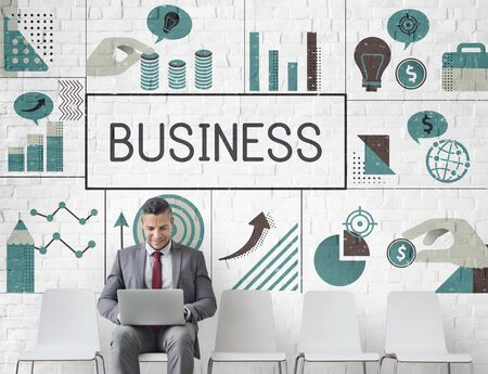 実業家金融マーケティング戦略の立案 写真素材