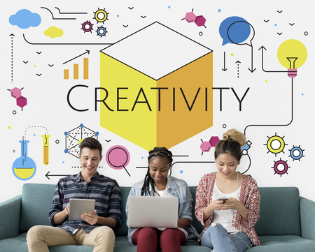 techie: Think Creation Development Innovation Technology Word Graphic Stock Photo
