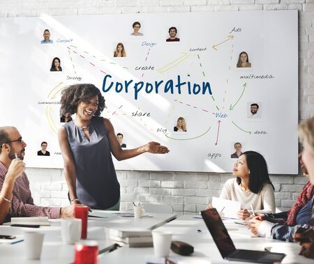 Illustration of business company corporation