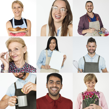 Collection of people startup small business Stok Fotoğraf
