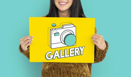 Digital camera illustration photography graphic Stok Fotoğraf