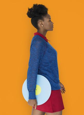 African Descent Female holding Illustration