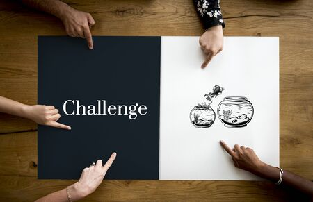 challange: Challange Descision Option Chance Choice Concept Stock Photo