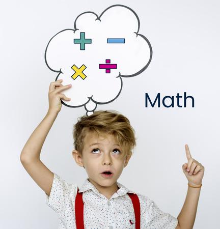 数学式の計算教育グラフィック 写真素材