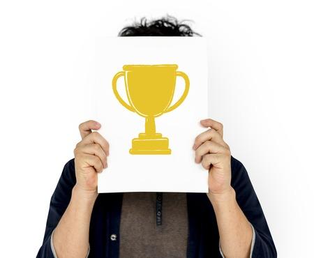 Excellence success achievement motivation victory Stock Photo - 82025934