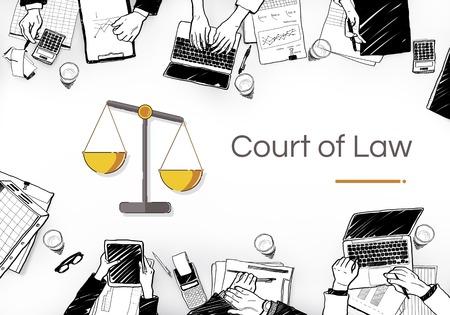 Illustration des droits à l'échelle de la justice et de la loi Banque d'images - 83073435