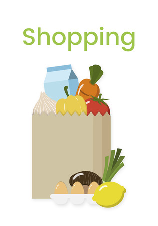 Buy Fresh Food Marketplace Supermarket Shopping Graphic