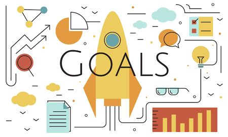 Business Objectives Goals Progress Improvement Concept Stock Photo