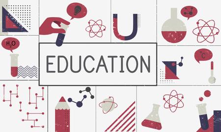Illustration of biochemistry study scietific research