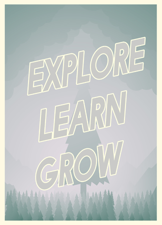 Graphic with Explore Lean Grow concept