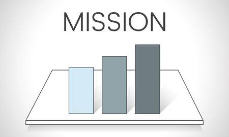 Illustration of business graph analysis Stock fotó