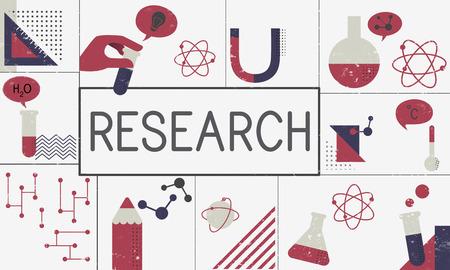 Illustration de l & # 39 ; étude de biochimie recherche recherche Banque d'images - 82031630