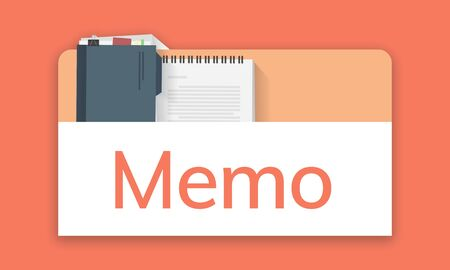 Illustration of personal organizer notepad Banco de Imagens