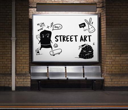 Illustration of graffiti street art culture Фото со стока - 82032806