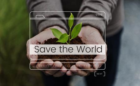 Save The World Message Box Window Graphic Stok Fotoğraf