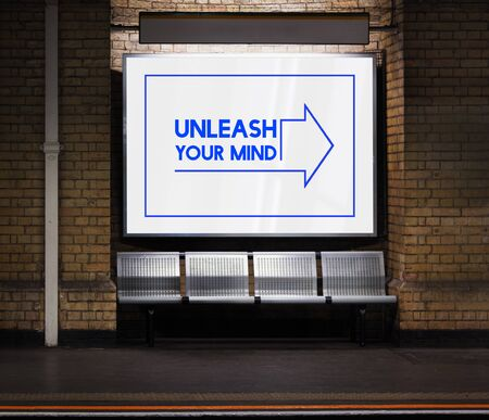 Unleash Inspiration Imagination Creativity Thoughts Stock Photo