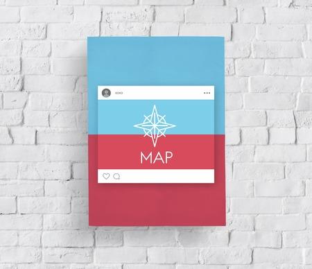 Affichage direction guide navigation de la route de la route graphique de mot Banque d'images - 82033496