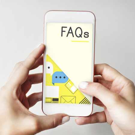 FAQ Support Information Online Concept Imagens