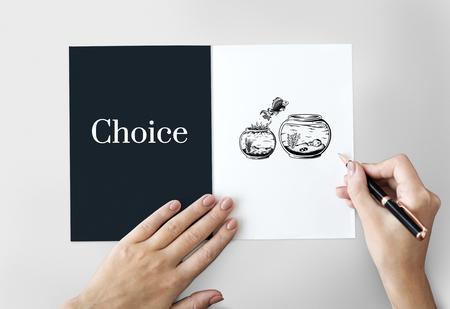 Challange Descision Option Chance Choice Concept Banco de Imagens - 82034036