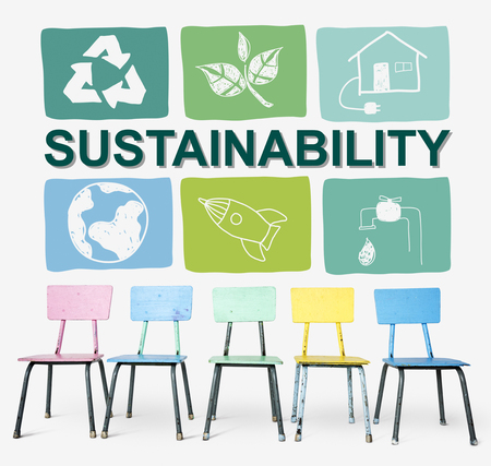 Sustainability Ecology Save Environment Concept Stock fotó