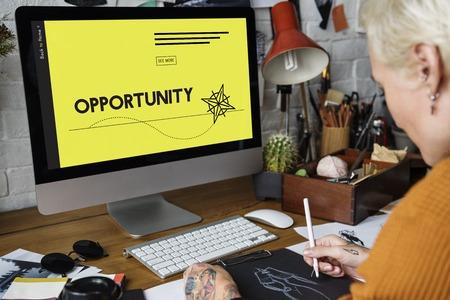 Gelegenheid Kans Succes Zakelijke vaardigheden Stockfoto