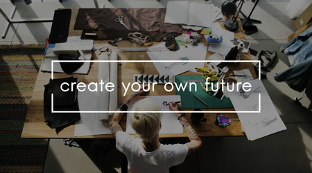 Creative your own future phrase overlay Фото со стока