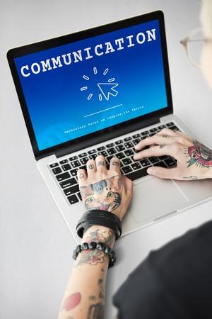 Communication Connection Interaction Conversation Stock Photo
