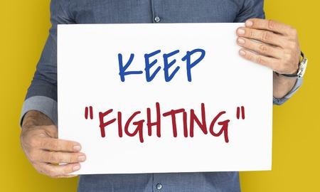 動機の単語メッセージを戦い続ける 写真素材 - 82091891