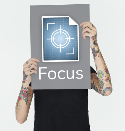 Illustration of focus on goals target pay attention Banco de Imagens - 82149270