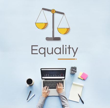 Illustration of justice scale rights and law Stock Illustration - 82194195