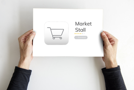 Online winkel winkel bestellen concept
