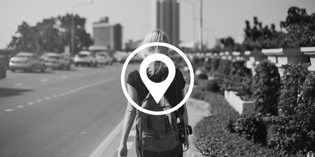 Distance Marker GPS Global Positioning System Banco de Imagens - 82118871