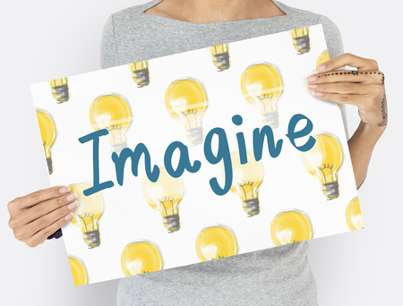 Imagine Light Bulb Ideas Icon Stock Photo