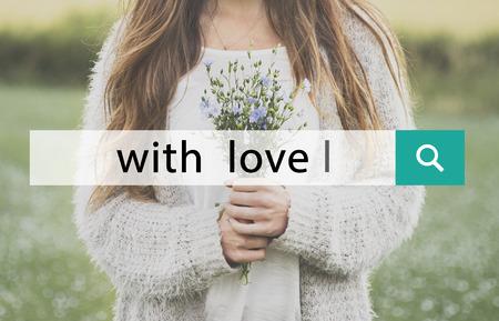 With Love Flower Bloom Blossom Phrase Words 版權商用圖片