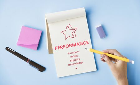 Enhance Perfomance Development Training Concept Stock Photo