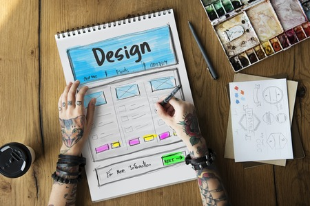 Product Design Drawing Website Graphic Stock fotó