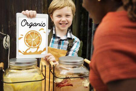 Verse Natuur Oranje Organische Fruit Grafische Stockfoto